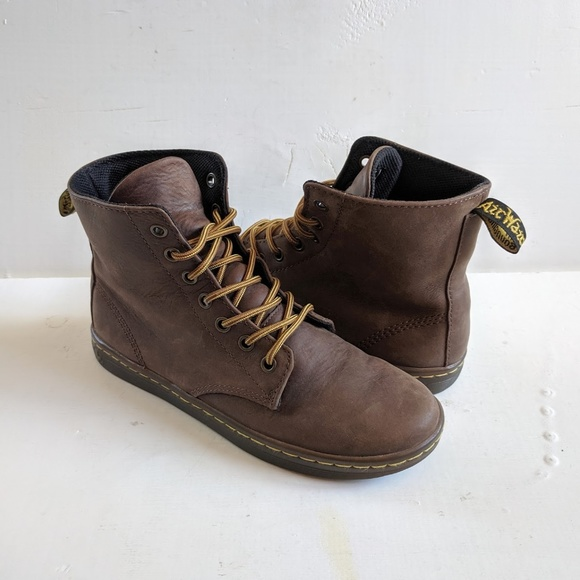 popular brand how to choose release date: Dr. Martens Leyton Brown Women's 6